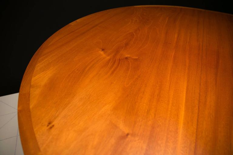 Danish Ole Wanscher's Elegant Extendable Round Dining Table in Mahogany For Sale
