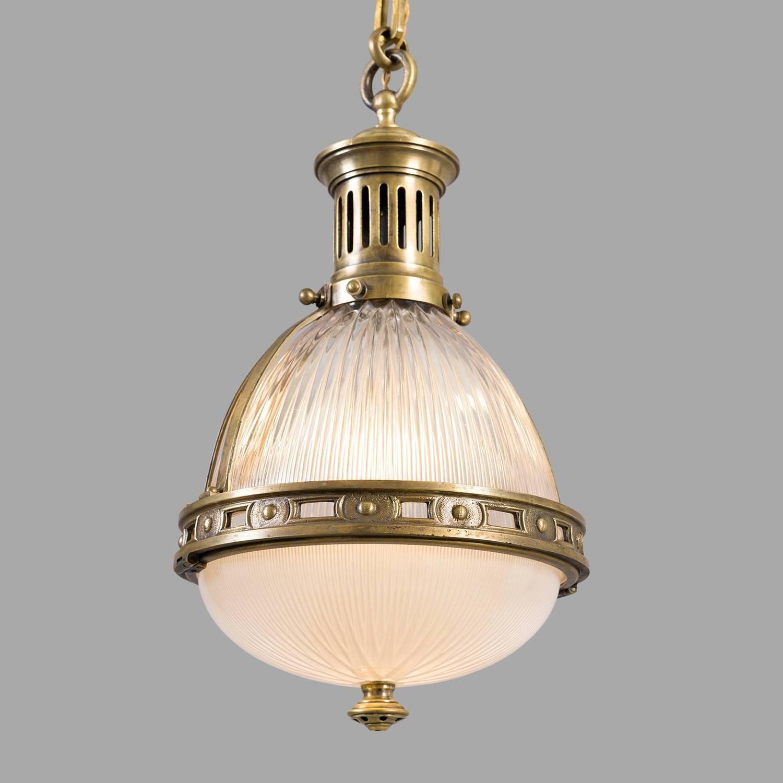 Bronze Holophane Pendant Light circa 1900 at 1stdibs