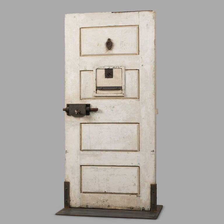 Mid-20th Century Jail Cell Door, circa 1930 For Sale