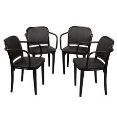 Set of Four Josef Hoffmann Armchair, for Thonet, circa 1930