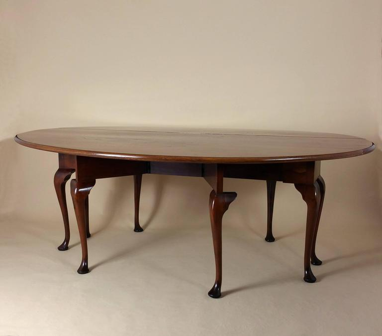Large mid 20th century pollard elm drop leaf wake table for Large drop leaf dining room tables