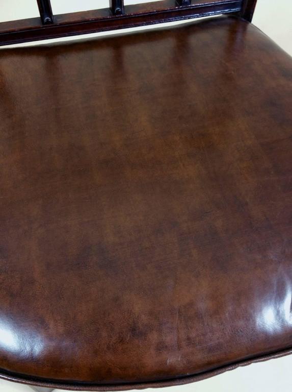 Rare Set of Ten English Mahogany 18th Century Sheraton Dining Chairs For Sale 2