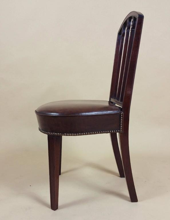 Rare Set of Ten English Mahogany 18th Century Sheraton Dining Chairs For Sale 4