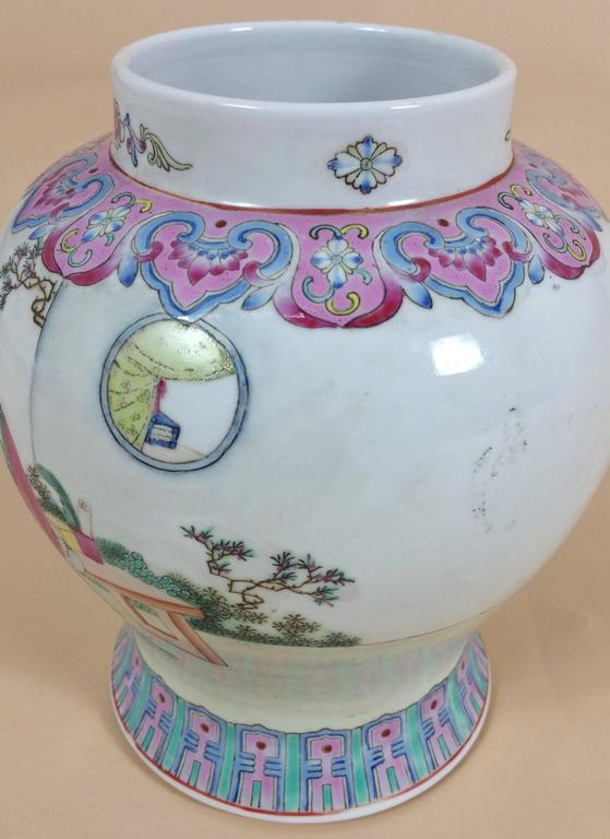 Enormous antique China Republic of China Pastel Hand