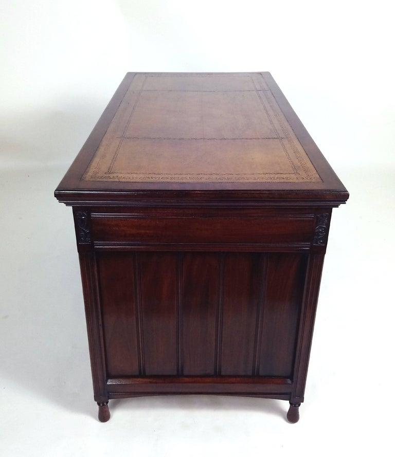 Fine Victorian Walnut Arts And Crafts Nine Drawer Desk For