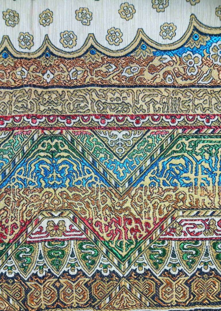 Early 20th Century Indian Worked Silk Wall Hanging or Bed Cover 5