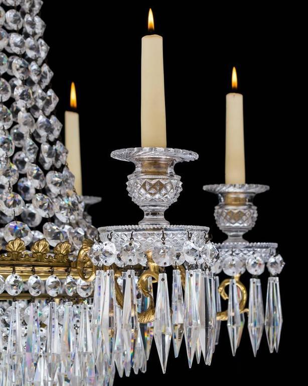 Fine Regency Period Cut Glass Chandelier For Sale At 1stdibs