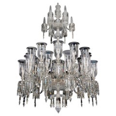 Exceptional large Victorian Engraved Period Crystal Chandelier