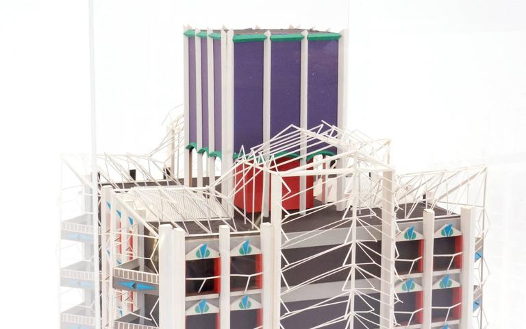 American Irving Harper Architectural Sculpture from His Paper Sculpture Series For Sale