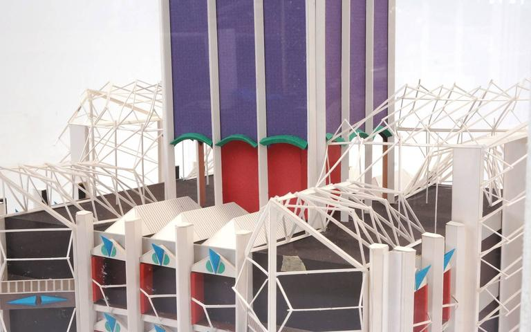 Acrylic Irving Harper Architectural Sculpture from His Paper Sculpture Series For Sale
