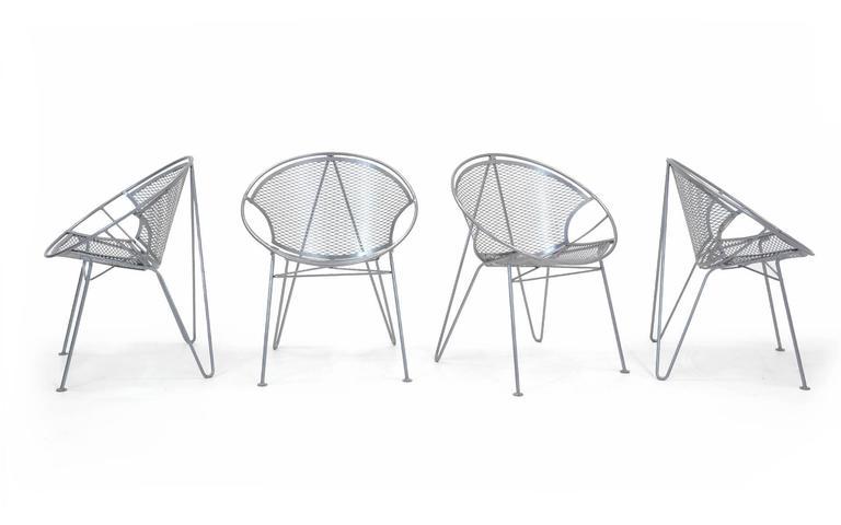 Eight John Salterini Outdoor Dining Chairs Hoop Design