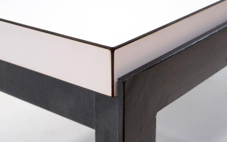 Florence Knoll Coffee Table White Laminate Black Steel Frame For Sale At 1stdibs