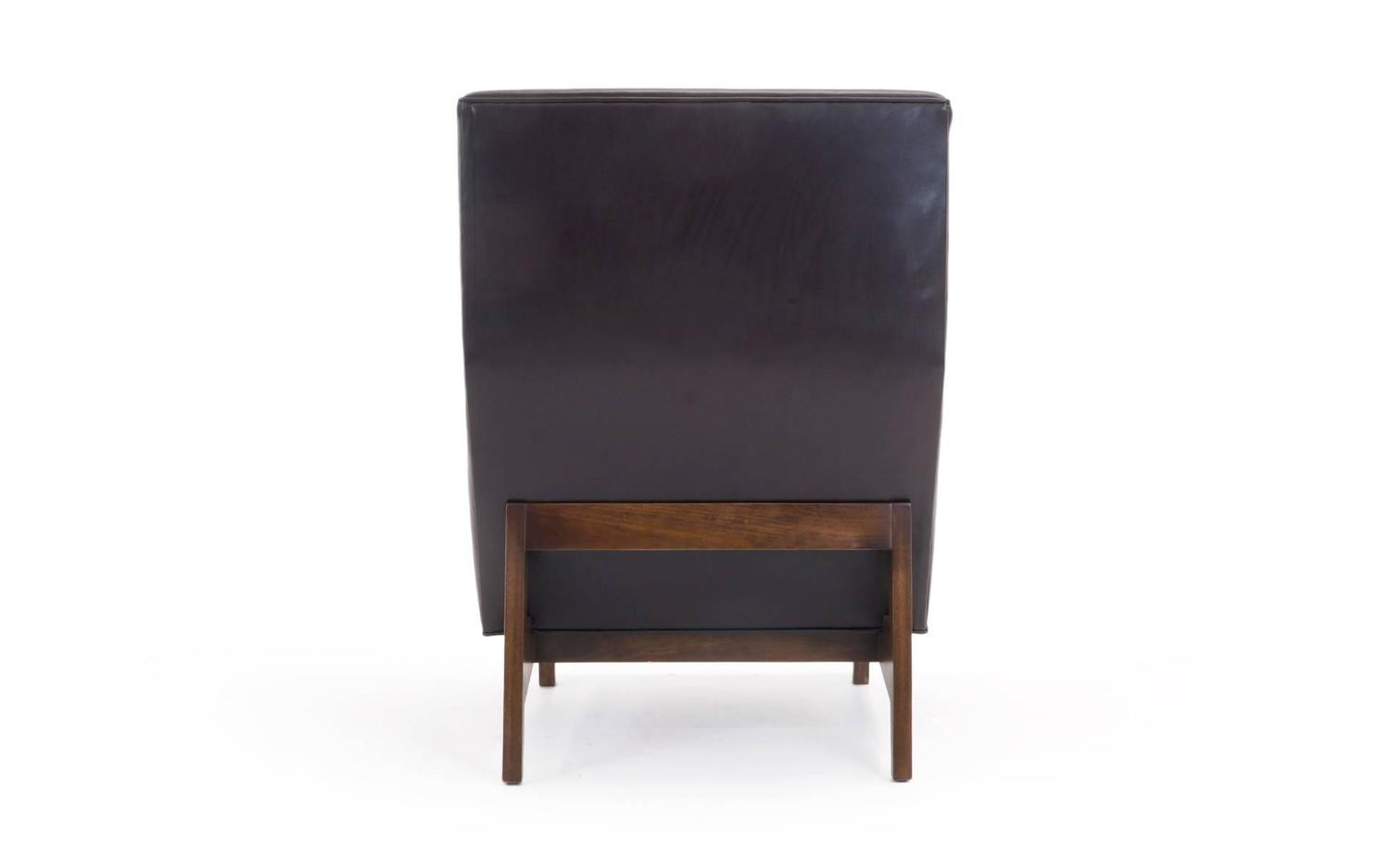 jens risom style custom made leather lounge chair for sale at 1stdibs
