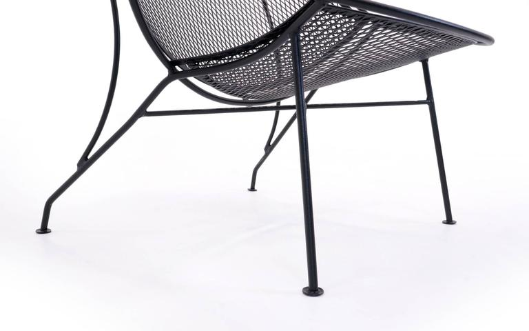 Rare Pair of John Salterini Patio Chaise Lounge Chairs with removable footrests. For Sale 2