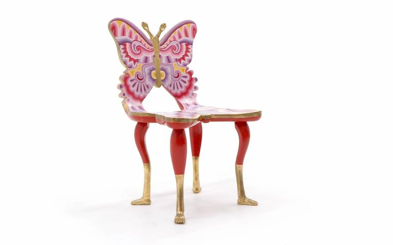 Mexican Signed Pedro Friedeberg Butterfly Chair an Exceptional Example For Sale