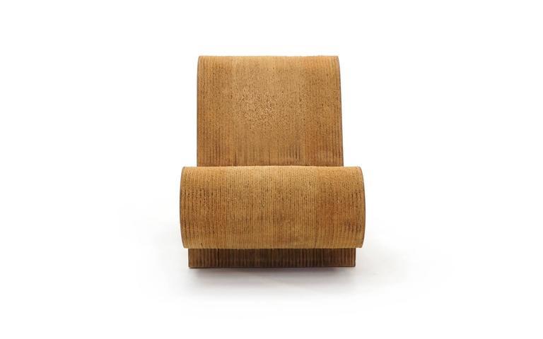 Late 20th Century Rare Original Frank Gehry, Easy Edges, Cardboard Contour Chair