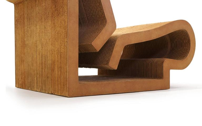 Rare Original Frank Gehry, Easy Edges, Cardboard Contour Chair 4
