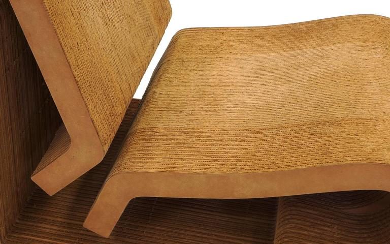 Rare Original Frank Gehry, Easy Edges, Cardboard Contour Chair 3