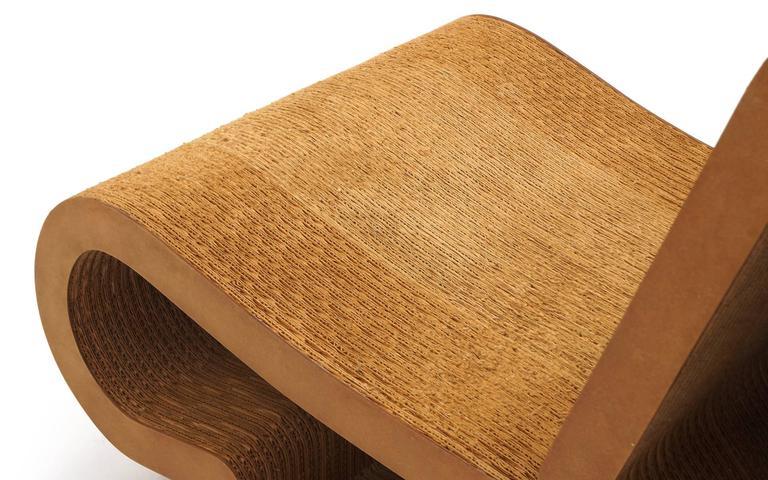 Rare Original Frank Gehry, Easy Edges, Cardboard Contour Chair 2