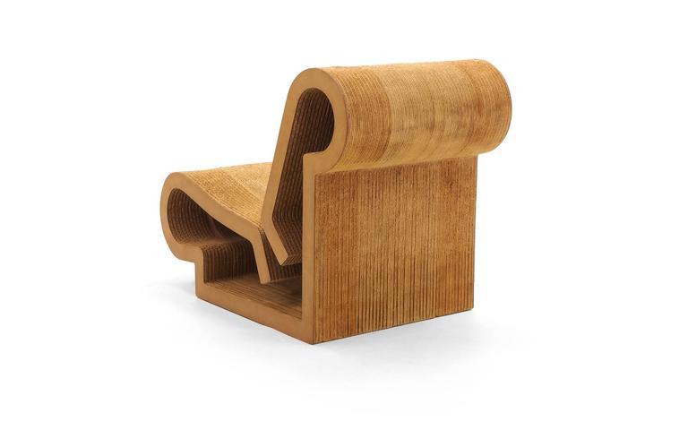 Modern Rare Original Frank Gehry, Easy Edges, Cardboard Contour Chair