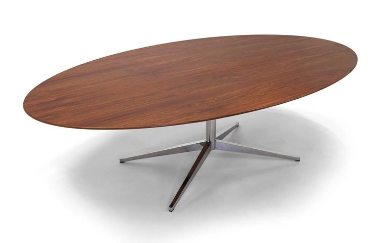 Florence Knoll Elliptical Oval Inch Rosewood Dining Or - Elliptical conference table