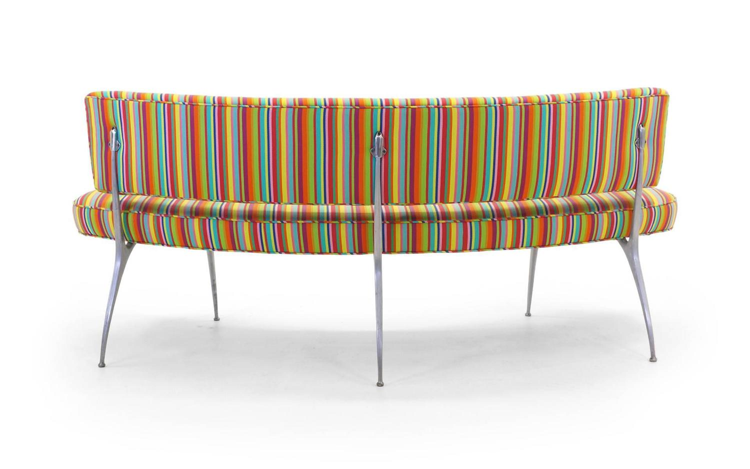 #A76924 Custom Built Curved Sofa / Bench With Impala Chair Legs Alexander  with 1500x938 px of Recommended Curved Settee Bench 9381500 save image @ avoidforclosure.info