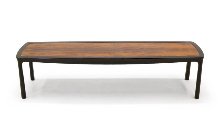 American Sculptured Edge Rectangular Coffee Table by Edward Wormley for Dunbar For Sale