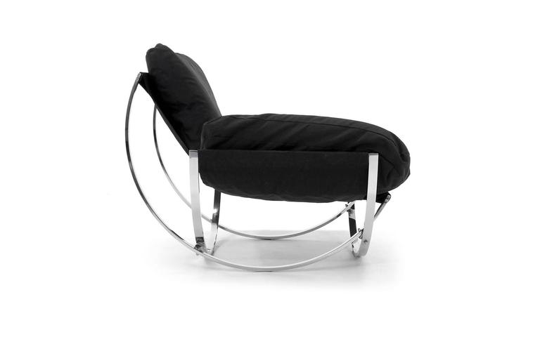 Chrome And Canvas Quot Apollo Quot Chair By Leonart Bender For