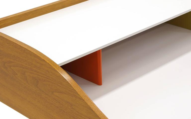 Mid-20th Century Original Production George Nelson and Associates Swaged Legged Desk For Sale