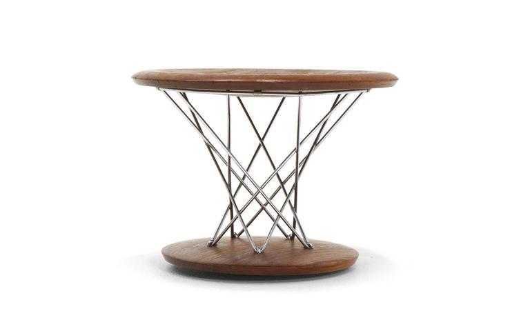 Beautiful, early, original, model 85-T, Noguchi rocking stool in solid walnut.