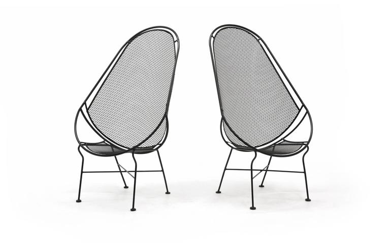 Pair of Indoor or Outdoor Chairs by John Salterini. Rare Version. Fully Restored 2