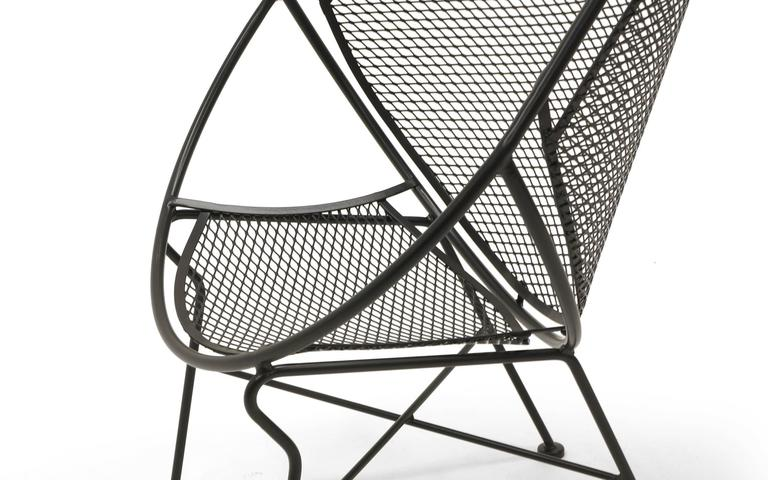 Pair of Indoor or Outdoor Chairs by John Salterini. Rare Version. Fully Restored 6