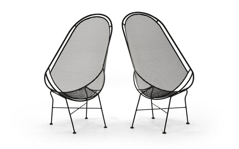 Pair of Indoor or Outdoor Chairs by John Salterini. Rare Version. Fully Restored 4