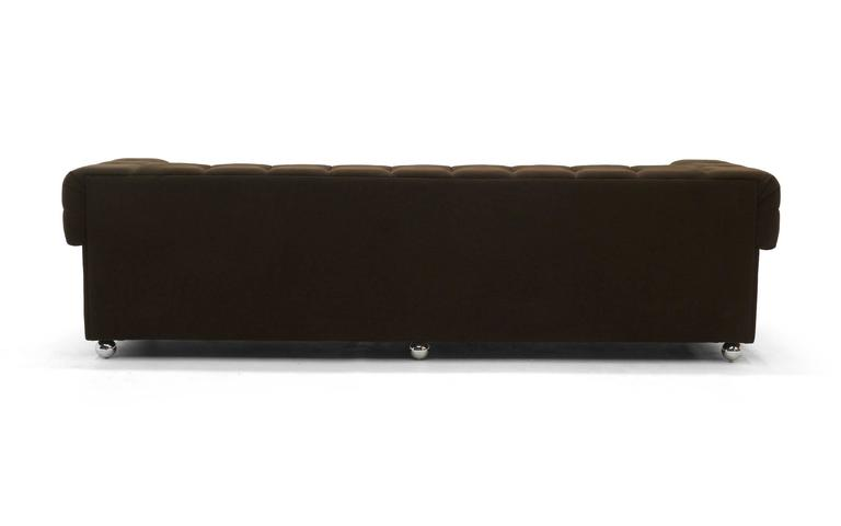 Even Arm Tufted Chesterfield Sofa, 1970s, New Upholstery, Very Comfortable For Sale at 1stdibs