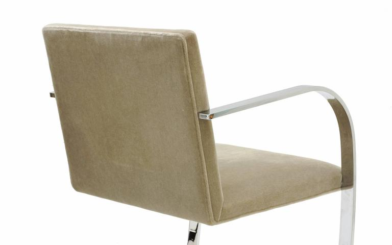 Steel Pair of Ludwig Mies van der Rohe Flat Bar Brno Chairs for Knoll For Sale
