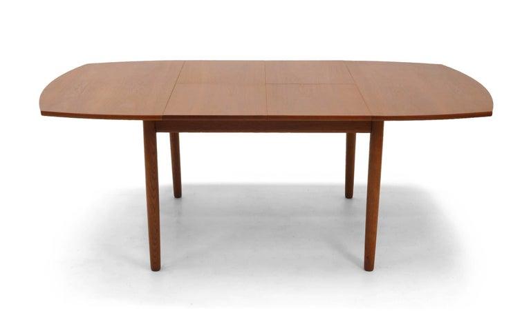 Square Expanding Danish Modern Teak Dining Table by Ejner