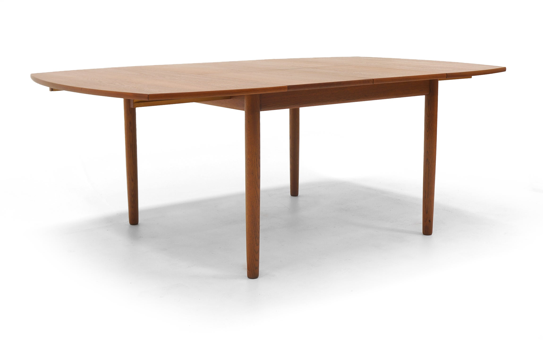 Square Expanding Danish Modern Teak Dining Table By Ejner Larsen