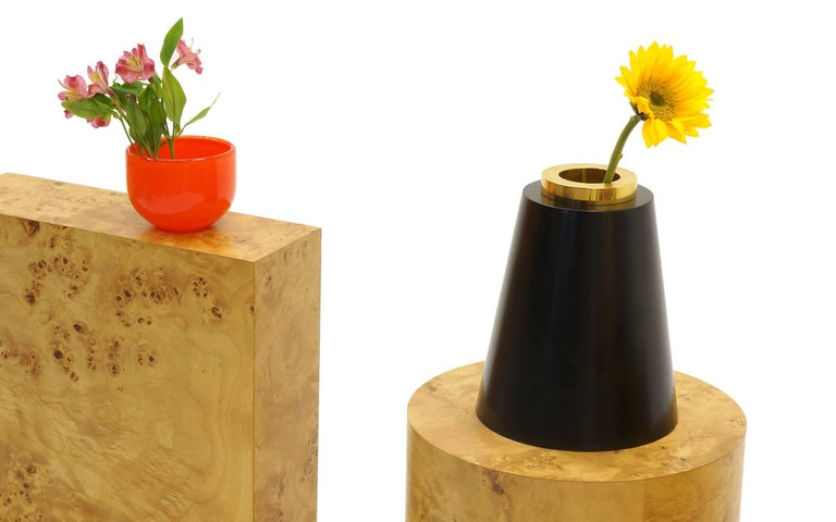 Italian Ettore Sottsass Vases from 27 Woods for a Chinese Artificial Flower For Sale