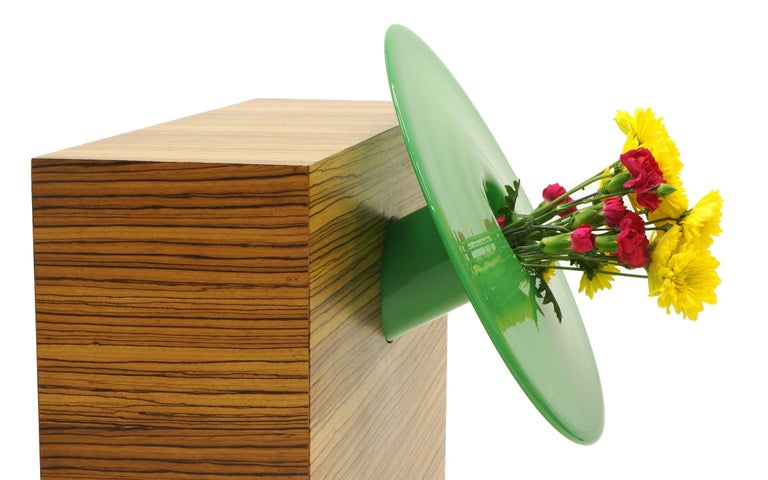 Lacquered Ettore Sottsass Vases from 27 Woods for a Chinese Artificial Flower For Sale