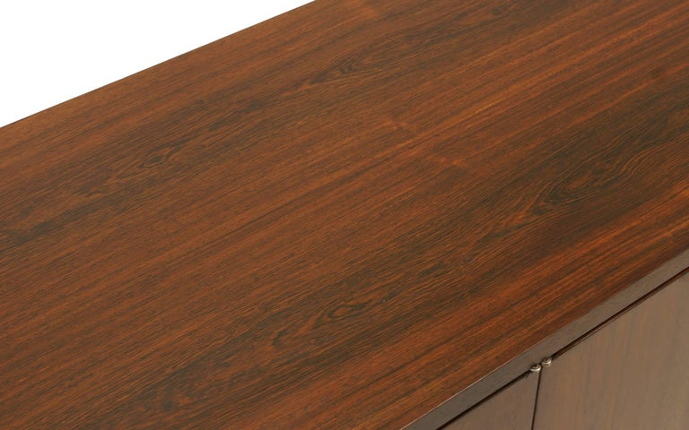 Rosewood Credenza/Media Cabinet Designed by Florence Knoll, Excellent For Sale 2