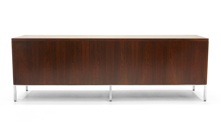 Rosewood Credenza/Media Cabinet Designed by Florence Knoll, Excellent For Sale 3