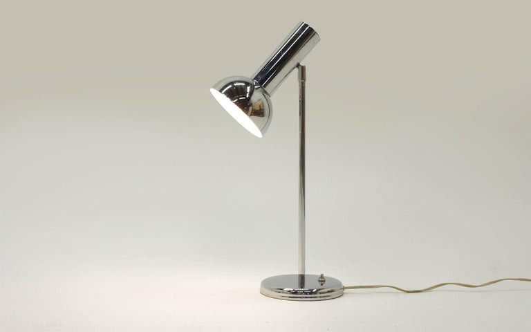 Mid-20th Century George Kovacs Chrome Table beside Lamp For Sale