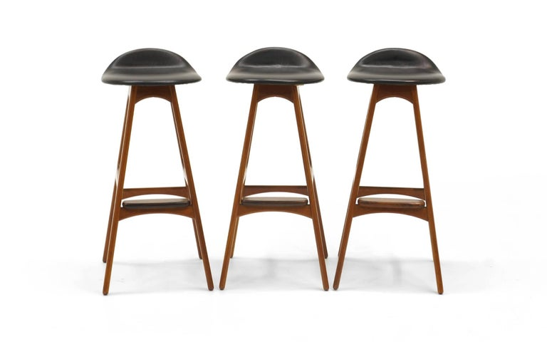 Three Bar Height Erik Buch Bar Stools.  Price is each. For Sale