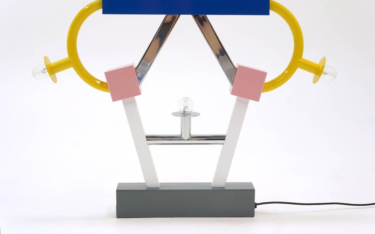 Post-Modern Ashoka Large Table Lamp by Ettore Sottsass for Memphis Milano For Sale