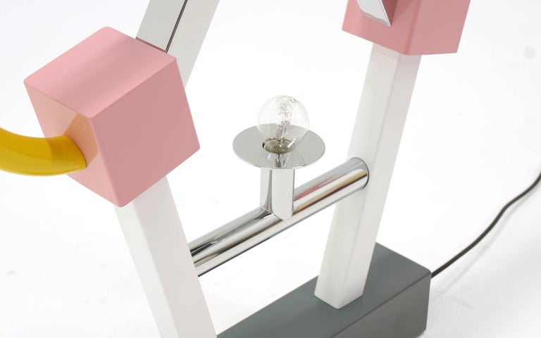 Enameled Ashoka Large Table Lamp by Ettore Sottsass for Memphis Milano For Sale