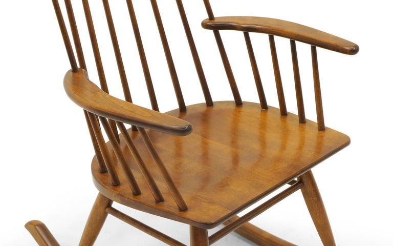 rocking chair  spindle back  made by conant ball for sale