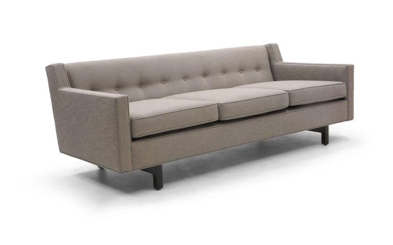 American Three-Seat Sofa by Edward Wormley for Dunbar, Fully Restored, Like New For Sale