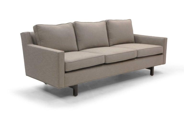 Mid-Century Modern Three-Seat Sofa by Edward Wormley for Dunbar, Fully Restored, Like New For Sale