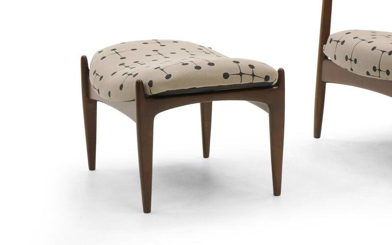 Danish High Back Lounge Chair And Ottoman By Ib Kofod