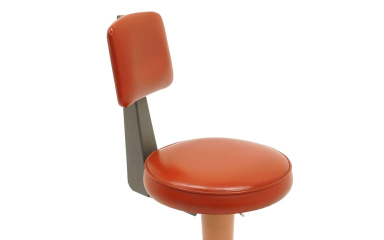 Industrial Design Swivel Chair On Casters By American